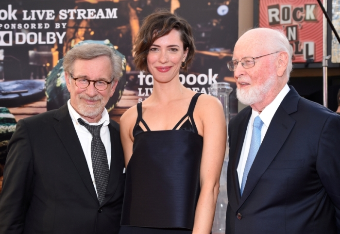 "Steven Spielberg, Rebecca Hall and John Williams attend the premiere of ""The BFG"" in Los Angeles"